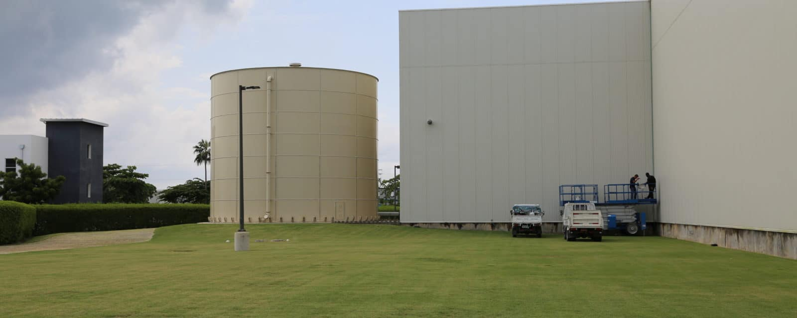 Industrial - warehouse seen from outside